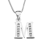 Initial M Pendant Necklace