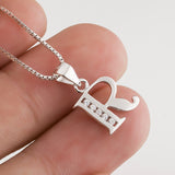 Silver Letter R Pendant Necklace