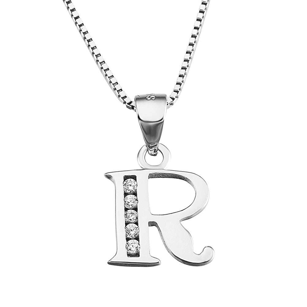 letter boutique in t rose pendant gold diamond disc necklace