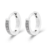 Silver Zircon Hoop Earrings