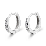 Korean Style CZ Hoop Earrings