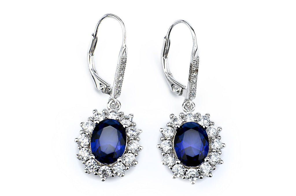 Elegant Blue Zircon Drop Earrings