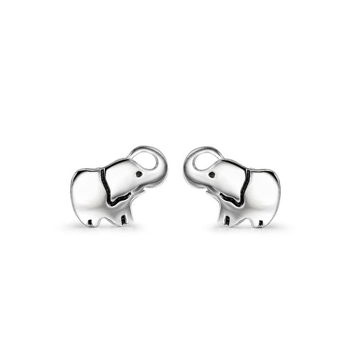 Silver Baby Elephant Stud Earrings