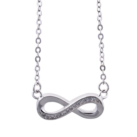 Sterling Silver Infinity Love Pendant Necklace
