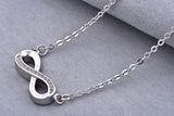 Sterling Silver Number Eight Pendant Necklace