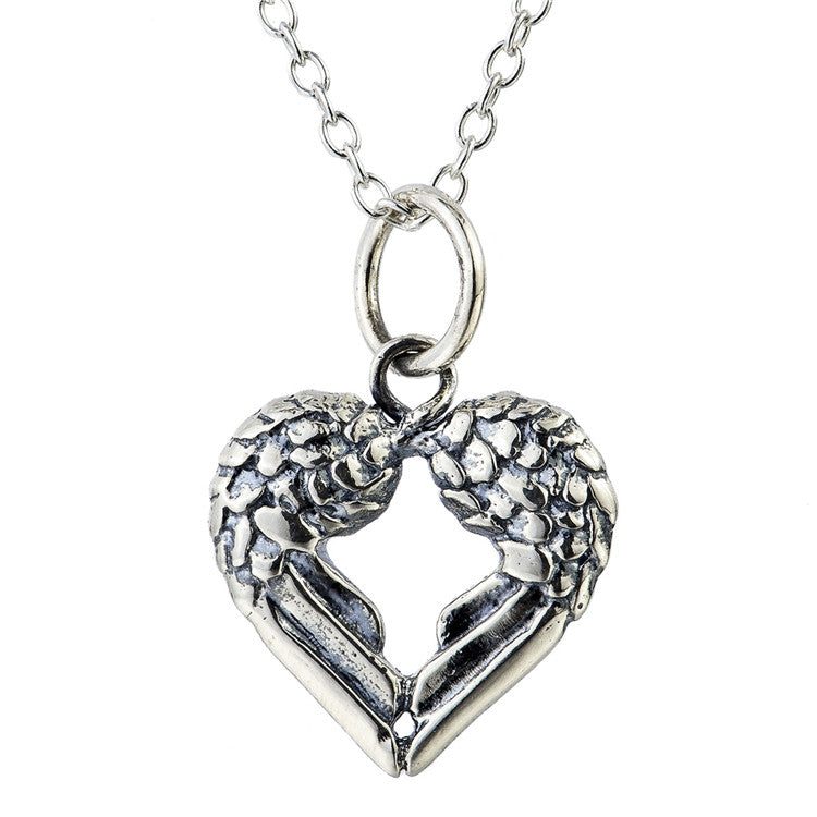 Vintage Heart-shaped 925 Sterling Silver Pendant Necklace E062186001