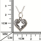Vintage Heart-shaped 925 Sterling Silver Pendant Necklace