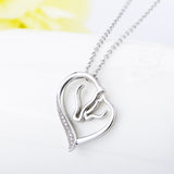 Simple Silver Heart-shaped Pendant Necklace