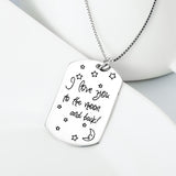 "Personalized 925 Sterling Silver ""I Love You To The Moon And Back"" Pendant Necklace"