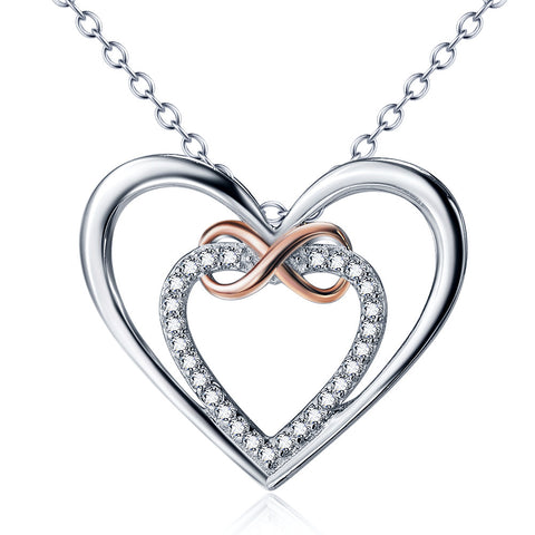 Double Hearts Pendant Necklace