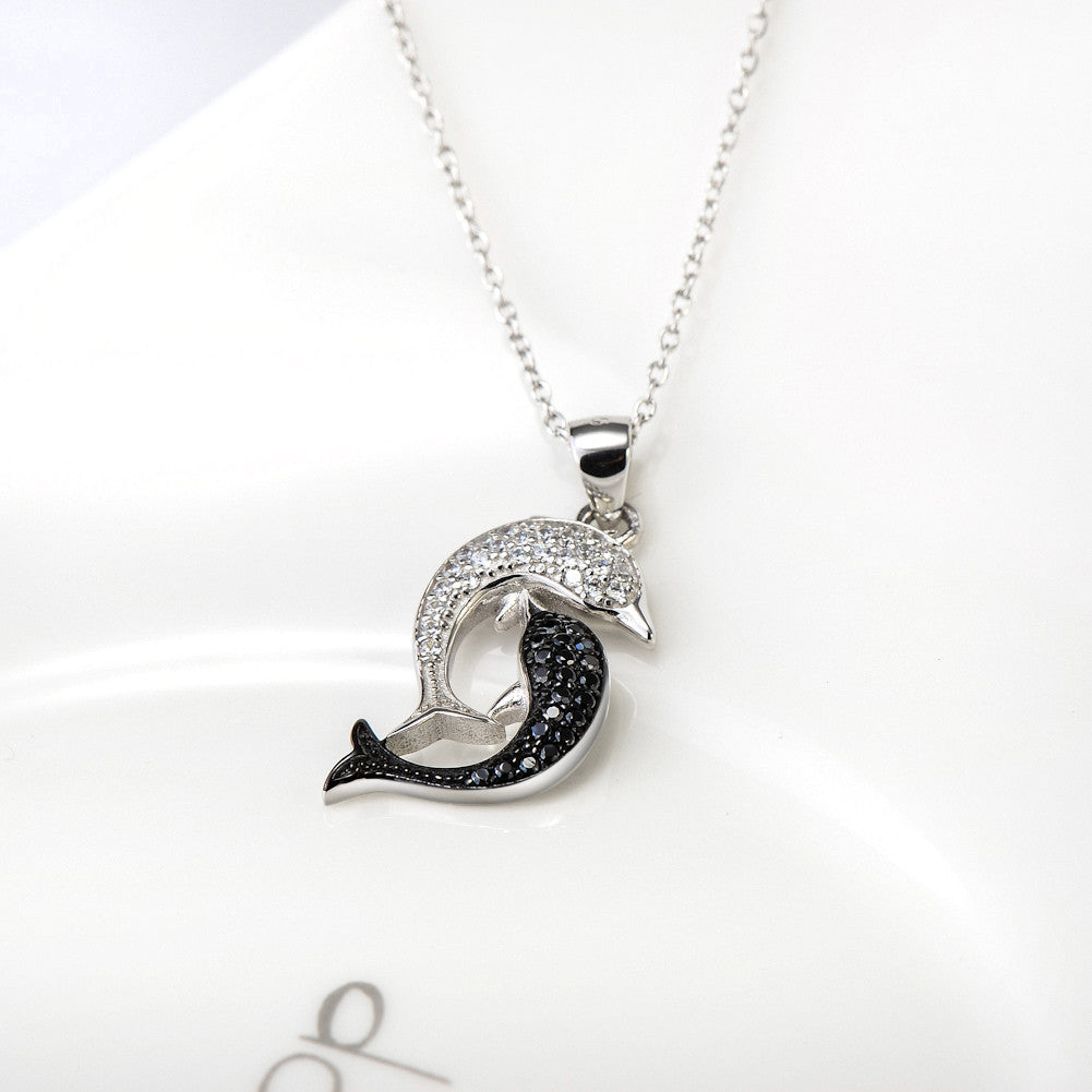 pendant information products silver sterling dolphin product dolphins