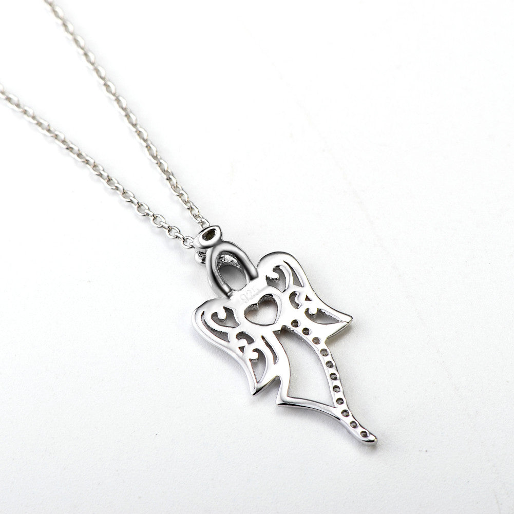 925 sterling silver angel pendant necklace evermarker 925 sterling silver angel pendant necklace 925 sterling silver angel pendant necklace aloadofball Image collections