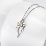 925 Sterling Silver Angel Pendant Necklace