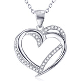 Longing Heart Pendant Necklace in Sterling Silver