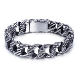 Braided Hollow Chain Men's Bracelet