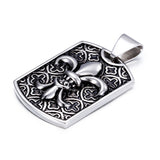 Dinstinctive Cruciate Flowers  Plate Titanium Steel Men's Necklace