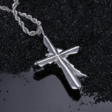 Suffering Angle Pattern Titanium Steel Men's Necklace