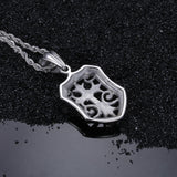 Crisscross on Shield Pattern Titanium Steel Men's Necklace