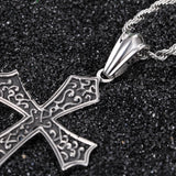 Vintage Totem Crisscross Pattern Titanium Steel Men's Necklace