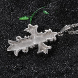 Cruciate Flower Pattern Titanium Steel Men's Necklace
