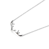 925 Sterling Silver Minimalist Milu Horn Necklace