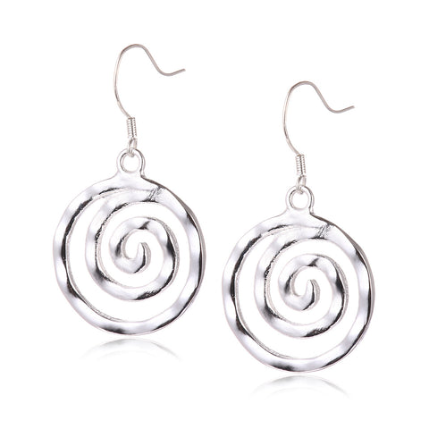 Screw Silver Plated Drop Earrings