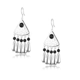 Ethnic Teardrop Pendant Drop Earrings