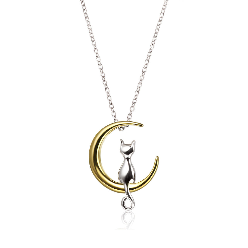 925 Sterling Silver Above the Moon Necklace