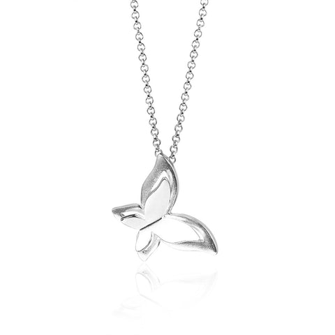 925 Sterling Silver Butterfly Dancing Necklace