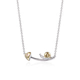 925 Sterling Silver Running Dream of Snail Necklace