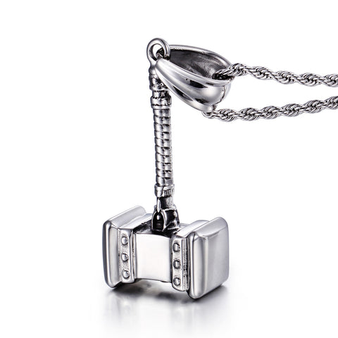 Hammer of Thor Stainless Steel Men's Necklace