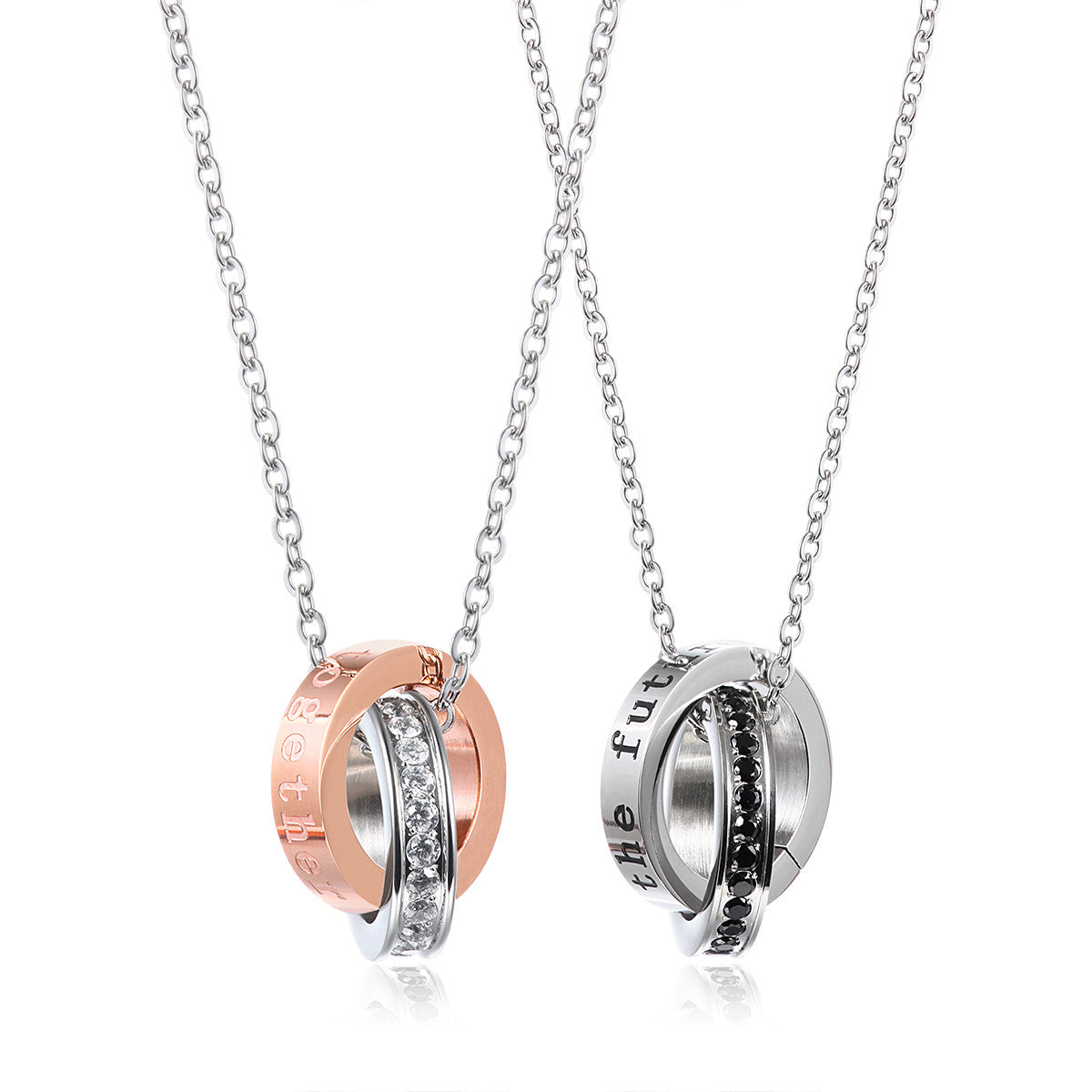 Only You 925 Sterling Silver Couple Necklaces