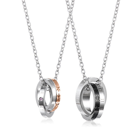 Eternal Love Stainless Steel Couple Necklace