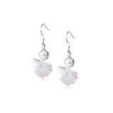 925 Sterling Silver Moderrn Girl Drop Earrings