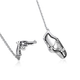Unique Design Gun-shaped 925 Sterling Silver Women's Pendant Necklace