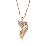 Sultry Fox Pendant Necklace