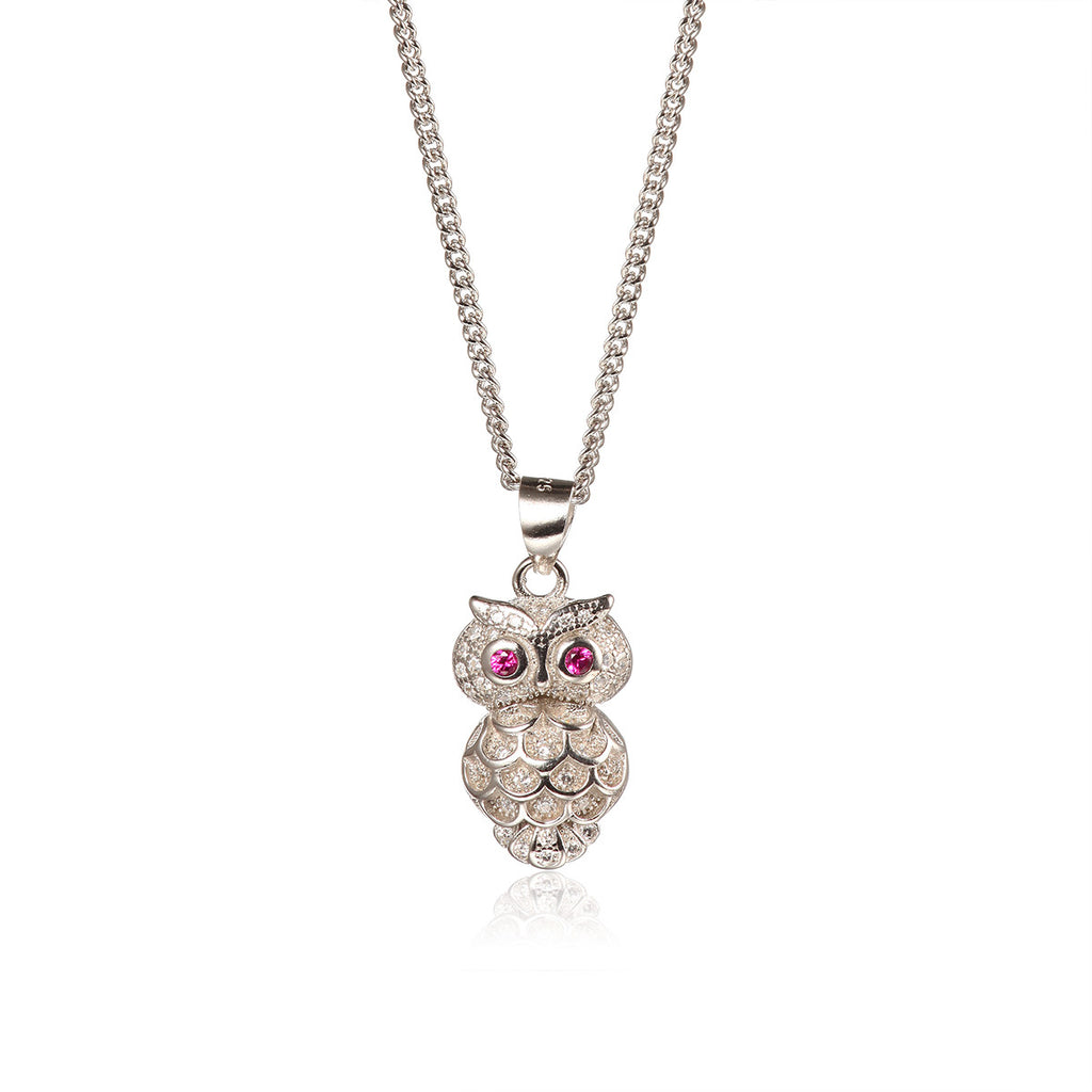Fierce Owl Pendant Necklace
