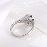 Sterling Silver Horseshoe Diamond Inlaid Dancing Diamond Promise Ring