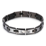 Simple I-shaped Watchband Pattern Silver Tungsten Steel Men's Bracelet