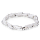 Minimalism Linked Chain Grids Ceramic Men's Bracelet