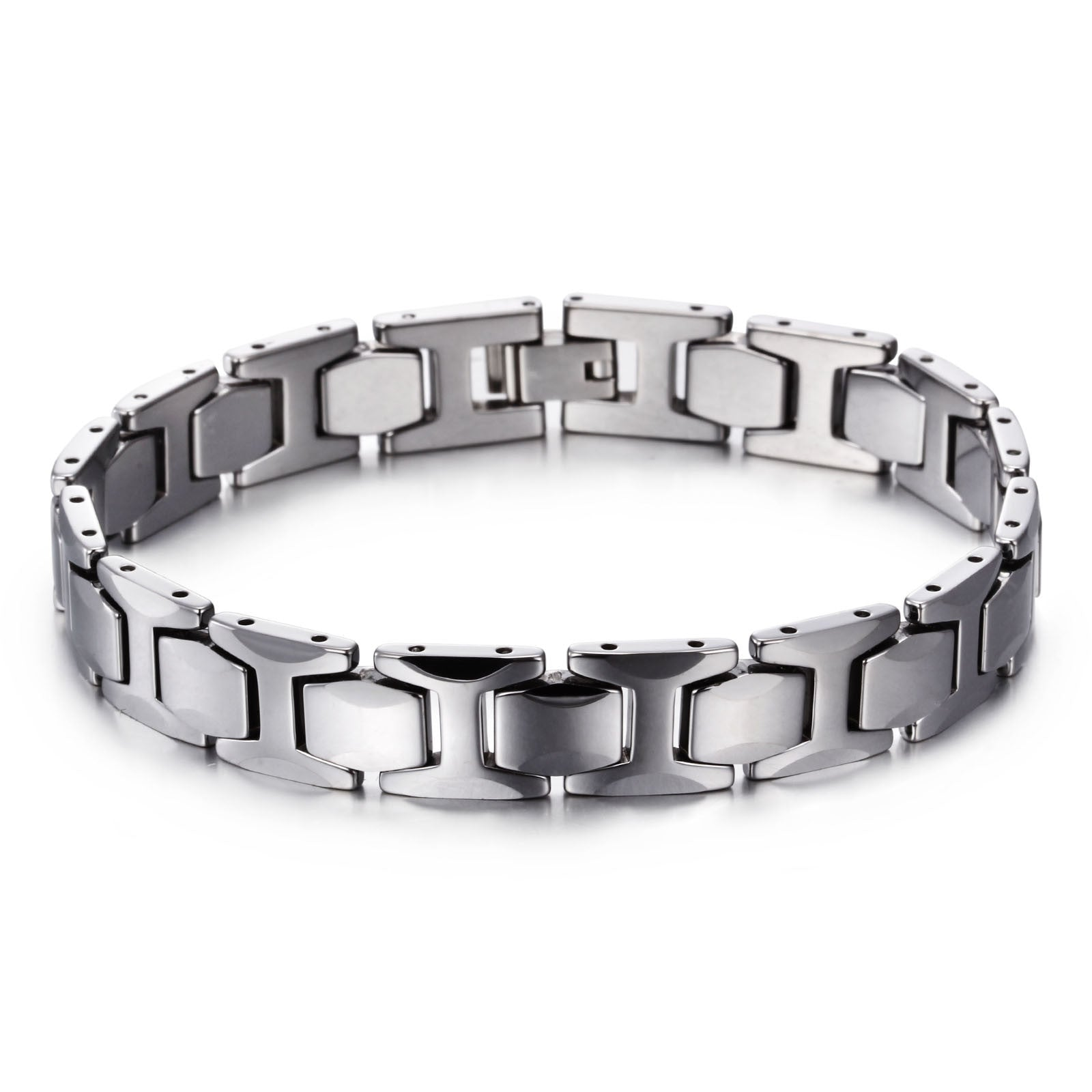 silver s i men bracelet pattern shaped products img watchband tungsten simple steel