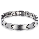 Simple Interlayed Pattern Tungsten Steel Men's Bracelet
