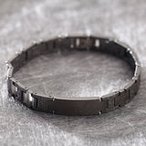 Minimalist Narrow Watchband Pattern Tungsten Steel Men's Bracelet