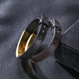Personalized Leather Men's Bracelet