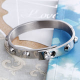 Personalized Minimalist Rivet Pattern Titanium Steel Men's Bracelet