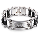 Gorgeous Golden Great Wall Pattern Titanium Steel Men's Bracelet
