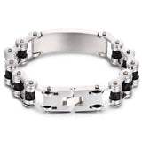 Personalized Bycicle Pattern Titanium Steel Men's Bracelet