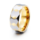 Simple Diamond Pattern Tungsten Steel Men's Ring