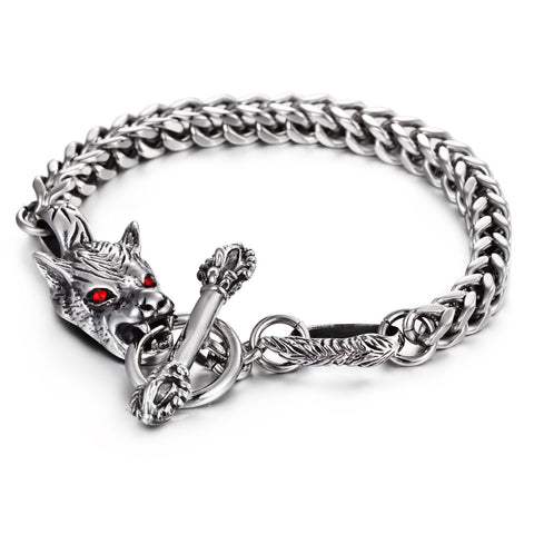 Original Dragon Head and Keel Titanium Steel Men' Bracelet