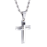 Special Disconnected Crisscross Titanium Steel Men's Necklace